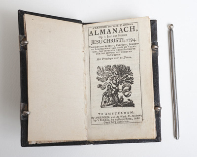 Ship Captain's Almanac and Notebook from the Delft chamber of the VOC; VOC; 1793; SF001109