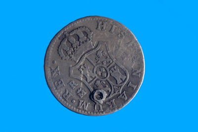4 reales coin from the wreck of the FERGUSSON; 1776; SF000961