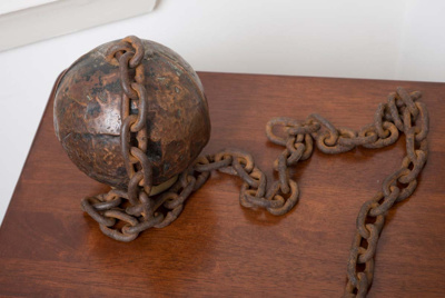 Convict ball and chain; SF001173