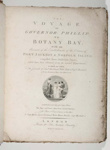 The Voyage of Governor Phillip to Botany Bay; Arthur Phillip - Author; 1789; SF000022