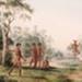 Aborigines in Landscape; Pierre Antoine Marchais; c1817-1820