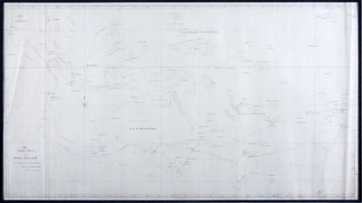 The Track Chart of HMS HYACINTH 1836. Original Chart From An Early Surveying Voyage to Australia.; Francis Price Blackwood; 1836; SF000051