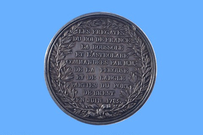 Commemorative medal for the La Pérouse expedition; Pierre Simon Benjamin Duvivier; 1785; SF000693