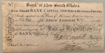 Bank share certificate – Bank of New South Wales; 1818