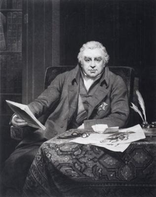 Portrait of Sir Joseph Banks; Samuel Reynolds - Engraver; 1822; SF000684