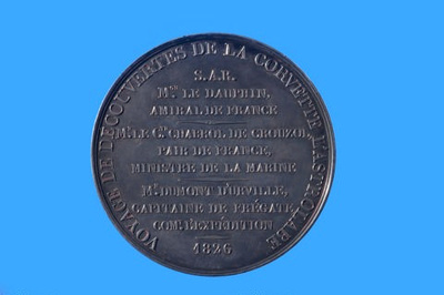 Charles X medal for the departure of the first voyage of the ship ASTROLABE; Alexis Joseph DePaulis - Medallist; 1826; SF000694