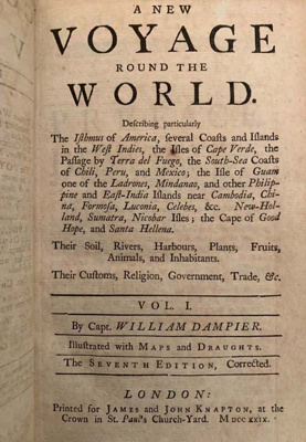 A collection of voyages of Captain William Dampier; William Dampier; 1729; SF001493
