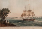 East Indiaman MELLISH entering Sydney Harbour; William John Huggins; c 1830