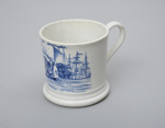 'Emigrants to Australia', Pearlware child's mug; Davenport Factory; c1830