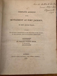 Complete Account of the Settlement at Port Jackson, in New South Wales; Watkin Tench - Author; 1793; SF001503
