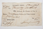 Promissory note for twenty Spanish dollars; 1823; SF000902