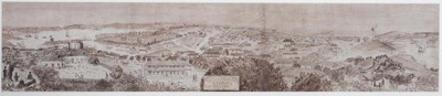 Vue de la Ville du Port de Sidney en Nouvelle Holland; Unknown; 1829; SF000714