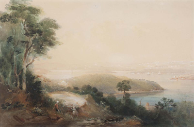 View of Sydney from the North Shore; Conrad Martens; 1849; SF000846