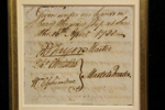 Document with Fletcher Christian's signature; Fletcher Christian; 1788; SF000165