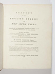 An Account of the English Colony in New South Wales; David Collins - Author; 1798 - Volume I; SF000875