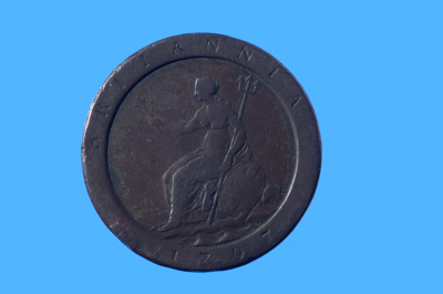 Convict love token stamped with the initials JH and SO; Johanna Hore; 1798; SF000824
