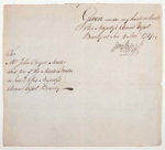 William Bligh's signature given on BOUNTY; William Bligh; 1787; SF000676