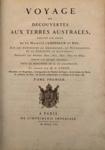 Voyage de Découvertes aux Terres Australes; M. F. Péron - Author; 1807-1816; SF001498