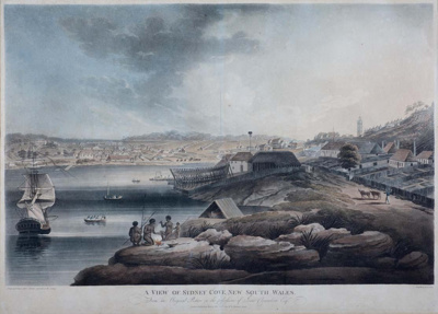 View of Sydney Cove, New South Wales; Edward Dayes; 1804; SF000747