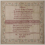 18th-century hand embroidered sampler; Ann Rusden; 1797; SF000704