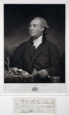 Portrait of Lord Viscount Sydney; John Young - Engraver; 1785; SF000748