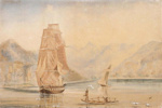 Sloop Fly and Schooner Undine – Dillons Bay; Captain Richard Aldworth Oliver (1811-1889); 1850; SF000907