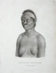 Portrait of Oui-ré-kine, who sailed to Bass Strait on the LADY NELSON with James Grant; Nicholas Martin Petit; 1807; SF000786