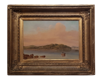 Point Piper from Shark Island, New South Wales; George Edwards Peacock; c 1840s; VSF0004