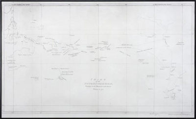 Chart of the south Pacific Ocean, pointing out the discoveries made previous to 1764; Alexander Dalrymple; 1767; SF000047
