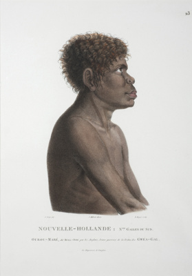 Ourou Mare.  A young warrior of the Gwea Gal tribe; Nicholas Martin Petit; 1824; SF000817