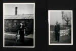 2 Photographs of Willy Lipp at Eden Camp in 1947. P.O.W. camp 250/83. see 9138; 64802