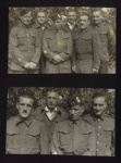 2x Photos of Sgt J.B McFeat, POW Stalag 383, 1943 in uniform with comrades, Poland 1943 ; 76921