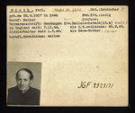 German P.O.W. record card - Karl Wirth - German - Dob 22/09/1907; 6644