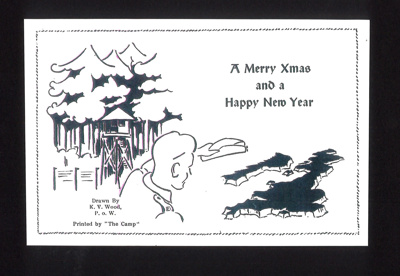 Christmas card - of type sent by British P.O.W.'s in Germany; 5365