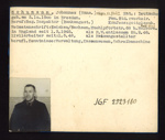 German P.O.W. record card - Johannes Schumann - German - Dob 03/10/1900; 6649