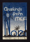 """Christmas card - """"Greetings from MEF"""" - Middle East Forces; 2072"""