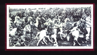 Copy of photograph - Polish Lancers on horseback at battle of Bzura - September 1939 - original lost; 1/09/1939; 9021