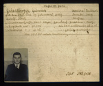 German P.O.W. record card - Heinrich Geistlinger - German - Dob 26/08/1902; 6647