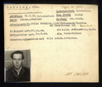 German P.O.W. record card - Otto Gehring - German - Dob 23/03/1925; 6651