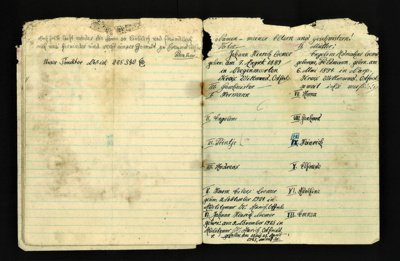 German P.O.W. manuscript notebook - possibly from P.O.W. Camp 83 - Old Malton; 5385