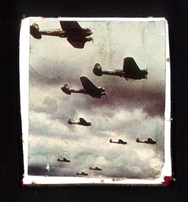 Photograph - formation of German Heinkel III bombers; 9033