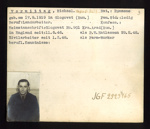 German P.O.W. record card - Michael Vormittag - Rumanian - Dob 17/09/1919; 6638