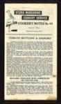 "Leaflet - Stork Margarine cookery notes no: 44 - ""Tomato bottling & Cookery"" - July 1943; 1/07/1943; 5225"
