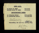 Speed limits - in English & German - issued to German P.O.W.'s at Eden Camp; 29432