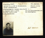 German P.O.W. record card - Arpat Tuth - Rumanian - Dob 15/10/1922; 6635