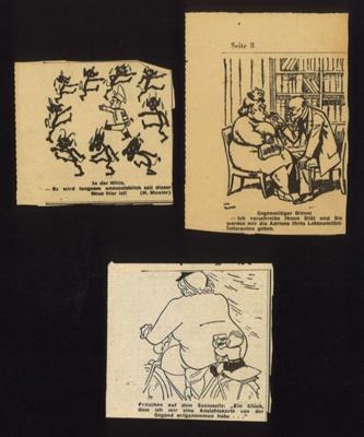 German press cuttings (3) - cartoons; 5001