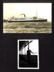 2x Photos, SS Asturias in Malaya, 1950s, J.B Mcfeat on ship in uniform.; 76929