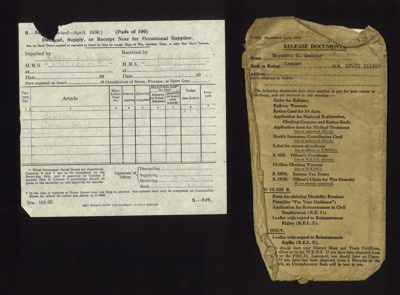 Royal Navy release documents (4) - seaman R.W. Godber Lt/JX 211269 Royal Navy - 10/01/1945; 10/01/1945; 5318
