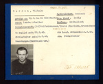 German Eden Camp P.O.W. record card - Wilhelm Berdan - German - Dob 29/02/1924; 6570