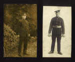 2x Photos/Postcards of J.B McFeat, in uniform, Royal Scots Fusiliers, WW2; 76922